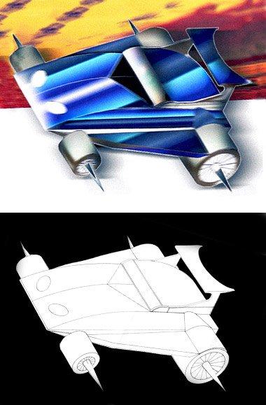 """""""Diseño de coche en 3D"""" por Donibane"""