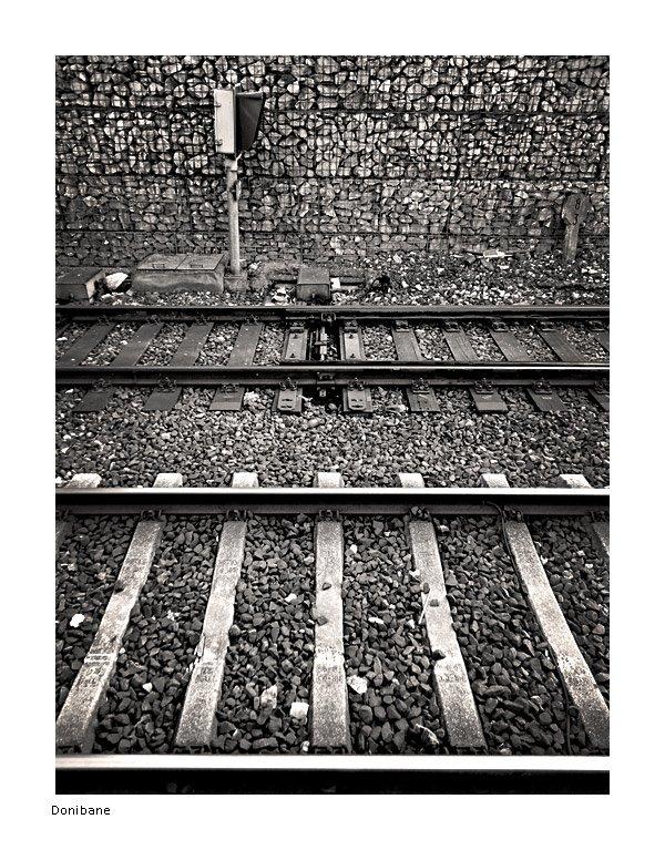 Vías del tren en Barakaldo