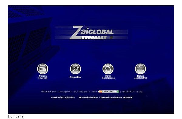 Diseño del  nuevo sitio web de Zaiglobal por parte de Donibane