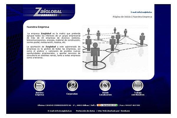 Diseño del  nuevo sitio web de Zaiglobal