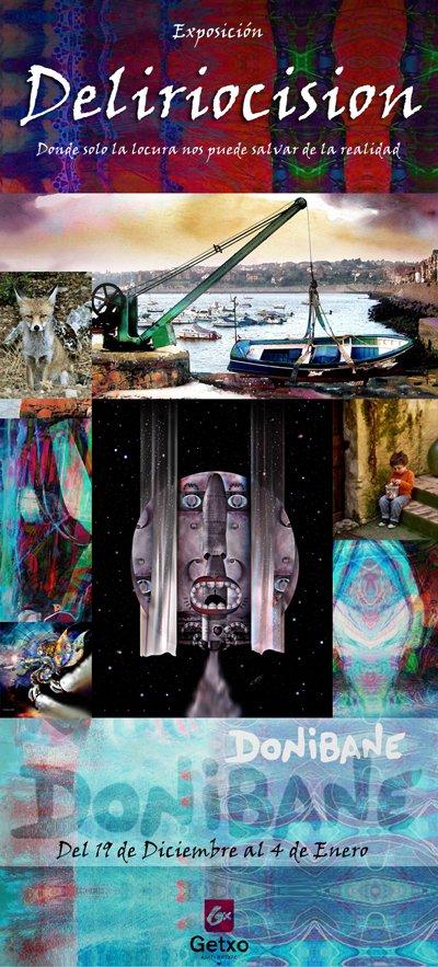 """Exposición de """"Donibane"""" en el Aula de Cultura de Getxo (en Villamonte, Algorta) del día 19 de diciembre al 4 de Enero de 2012."""