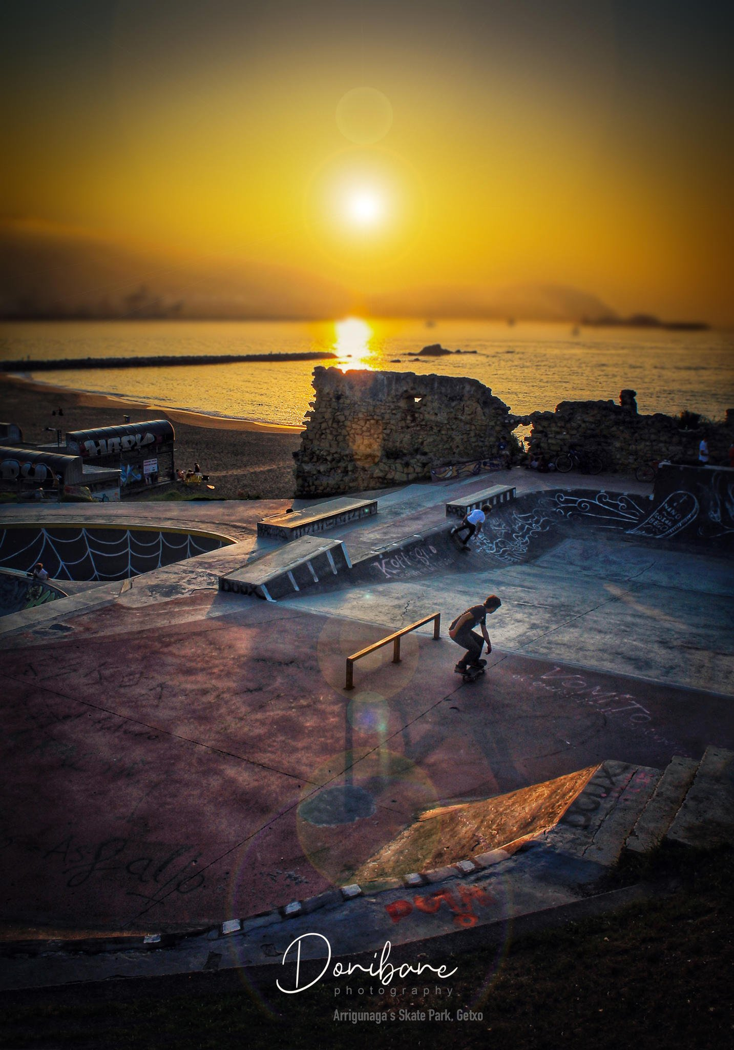 Skate Park in Getxo, Basque Country