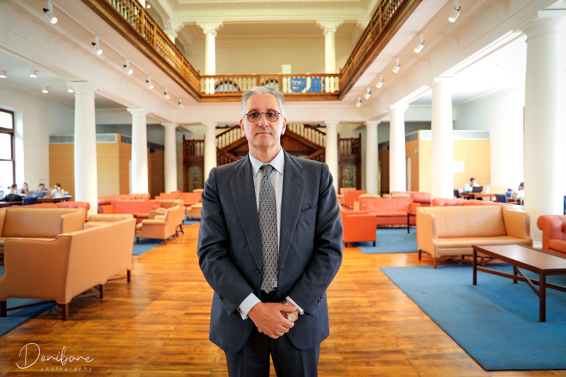 Presidente de Orkestra retratado por Donibane